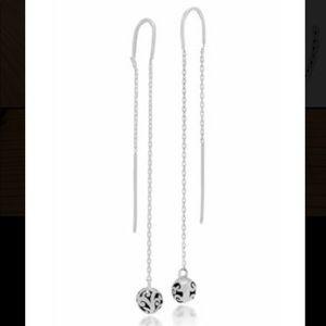 LOIS HILL SterlingSilver Bead Thread Drop Earrings